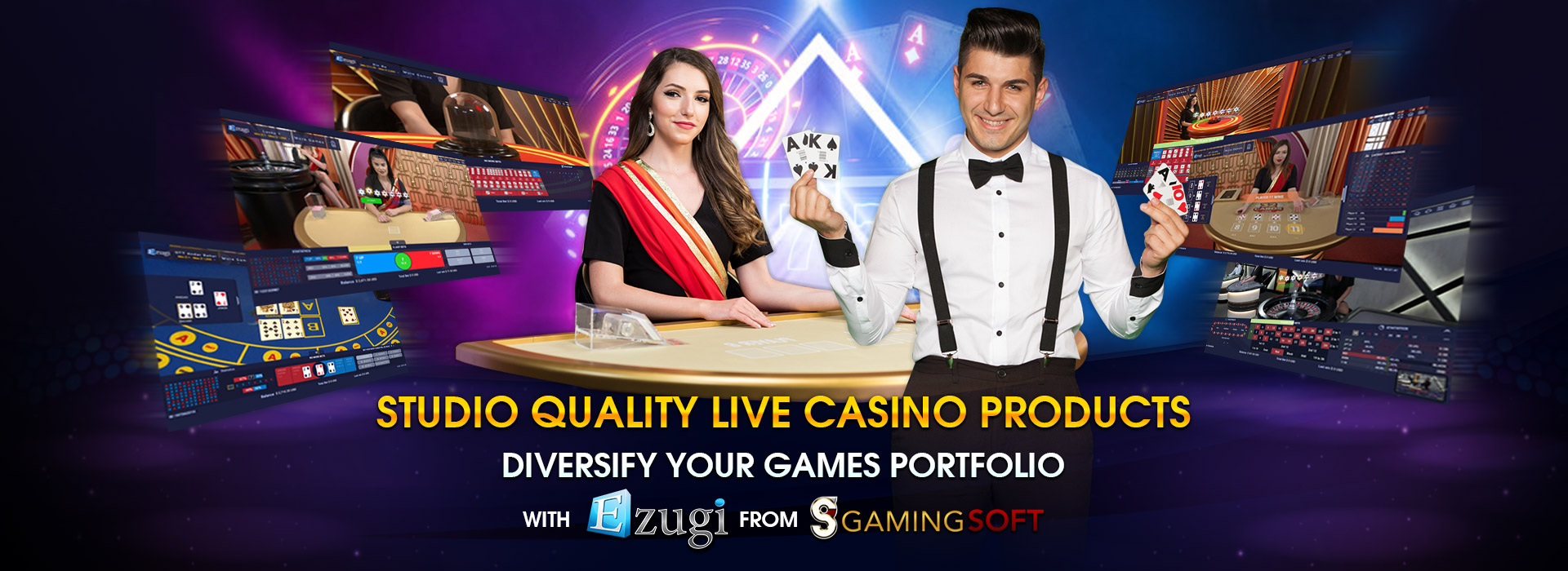 Integrate the High Quality Streaming Live Casino Products from Ezugi into your own Cloud-based Gaming Platform to Diversify your Game Portfolio - GamingSoft