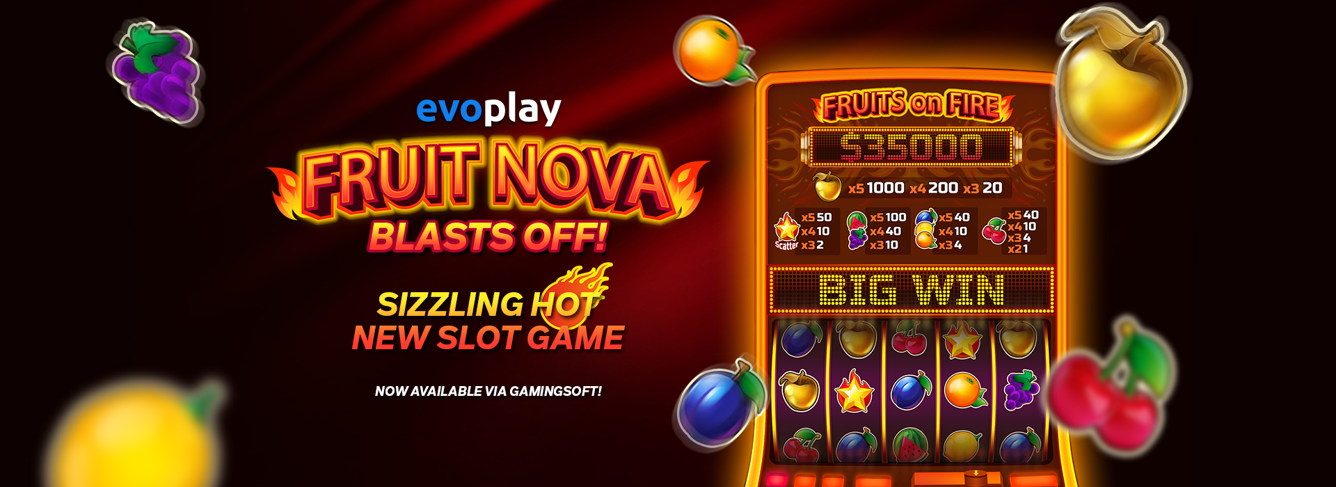 The Fruit Nova Slot Game Provided by Evoplay - GamingSoft