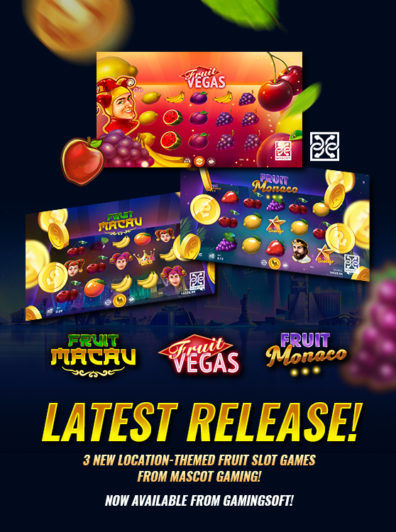 The New Fruit-themed Slot Games from Mascot Gaming are now available at GamingSoft - GamingSoft