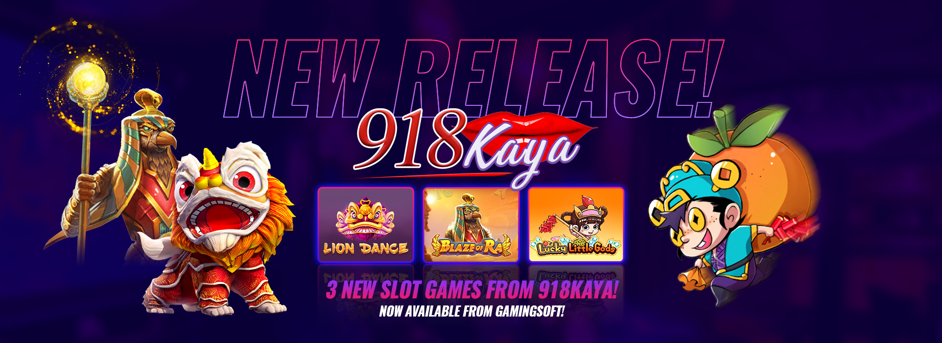 Check out the New Slot Games Provided by 918Kaya - GamingSoft