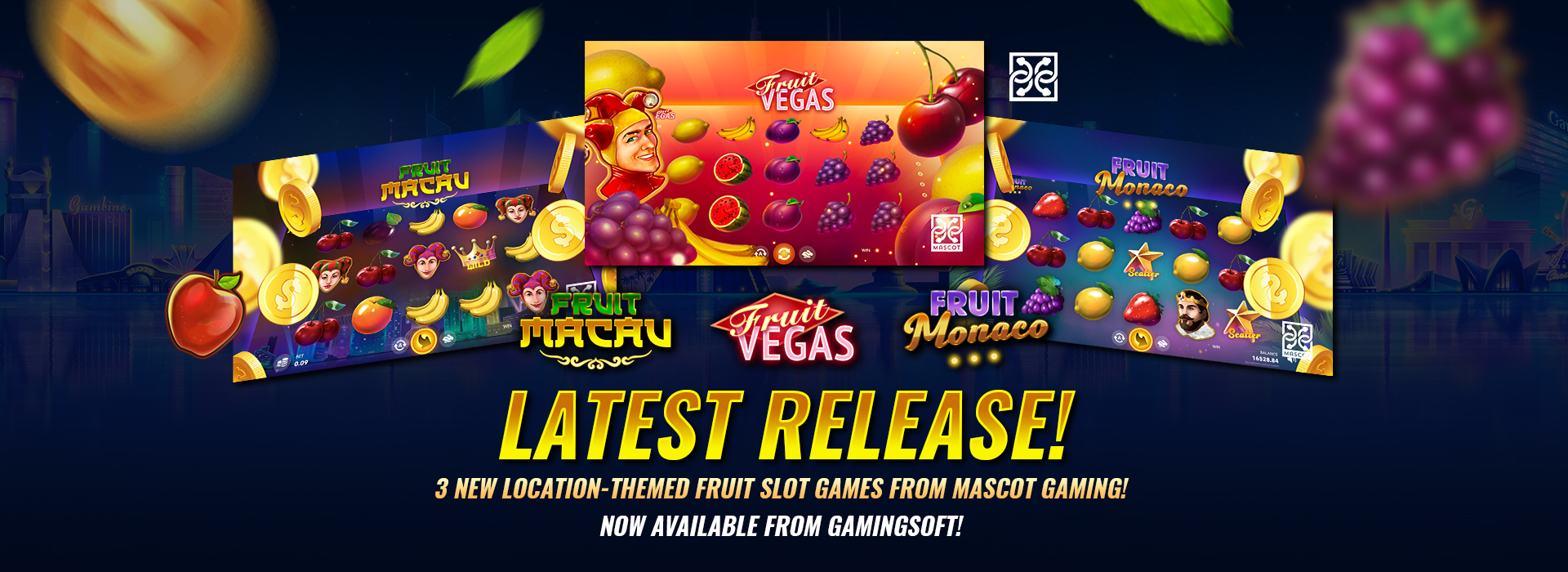 Check out the New Fruit-themed Slot Games Provided by Mascot Gaming - GamingSoft