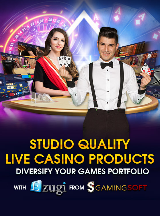 The Live Casino Products with High Quality Streaming from Ezugi are now Listed on GamingSoft's Supplier Dataset for Integration - GamingSoft
